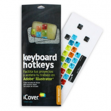 iCover Keyboard Hotkeys Adobe Illustrator - силиконов протектор за Apple и MacBook клавиатури