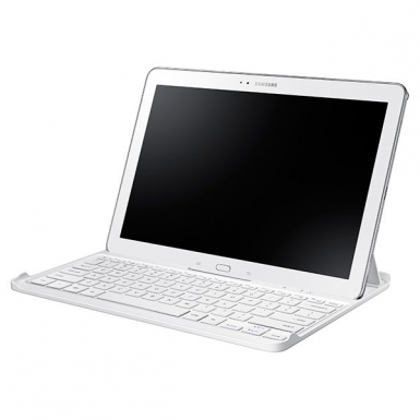 Samsung Bluetooth Keyboard Cover - кейс, клавиатура и стойка за Samsung Galaxy Pro/Note 12.2 (бял)