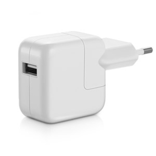 Apple 10W USB Power Adapter - оригинално захранване за iPad, iPhone, iPod (EU стандарт) (bulk)