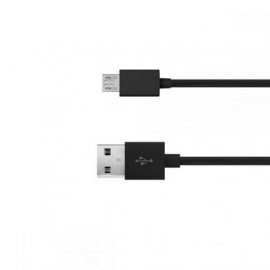 Just Wireless microUSB Charge and Sync Cable - кабел за устройства с microUSB порт (0.5 метра) (черен)