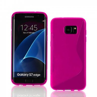 S-Line Cover Case - силиконов (TPU) калъф за Samsung Galaxy S7 Edge (розов)
