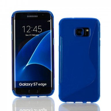 S-Line Cover Case - силиконов (TPU) калъф за Samsung Galaxy S7 Edge (син)