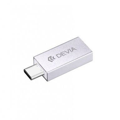 Devia Itec USB-C to USB-A 3.0 Adapter - USB-A адаптер за MacBook 12 и устройства с USB-C порт