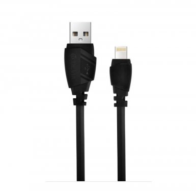 Devia Aex Lightning Data Cable 1.2m. - гумиран lightning кабел (120 см.) за iPhone, iPad и iPod с Lightning вход (черен)