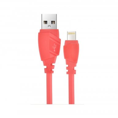 Devia Aex Lightning Data Cable 1.2m. - гумиран lightning кабел (120 см.) за iPhone, iPad и iPod с Lightning вход (червен)