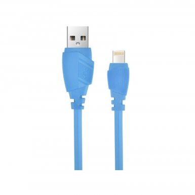 Devia Aex Lightning Data Cable 1.2m. - гумиран lightning кабел (120 см.) за iPhone, iPad и iPod с Lightning вход (син)