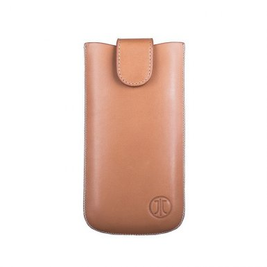 JT Berlin SlimCase Premium 3XL - кожен калъф (естествена кожа) за iPhone 8 Plus, iPhone 7 Plus, Samsung Galaxy S7 Edge, S6 Edge Plus, LG G3, G4, Sony Xperia Z3, Z5 и други (кафяв)