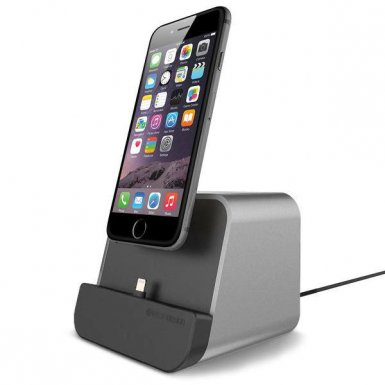 Verus New i-Depot Cradle - док станция за iPhone 8, iPhone 7, 7 Plus, 6/6S, 6 Plus/6S Plus, iPhone 5/5S/5C/SE, iPad mini (всички поколения), iPad Air, iPad 5 (2017)/Air 2, iPad Pro 9.7 (сребриста)