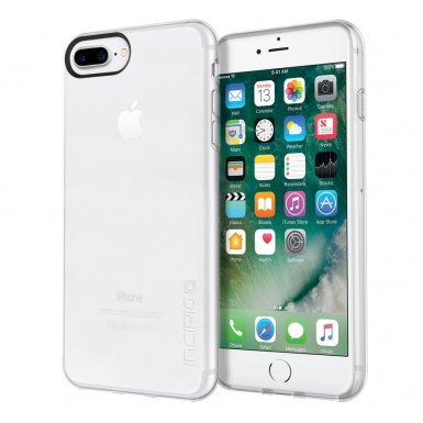 Incipio NGP Pure Case - удароустойчив силиконов (TPU) калъф за iPhone 8 Plus, iPhone 7 Plus, iPhone 6S Plus, iPhone 6 Plus (мат-прозрачен)