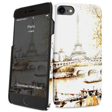 iPaint Paris HC Case - дизайнерски поликарбонатов кейс за iPhone 8, iPhone 7