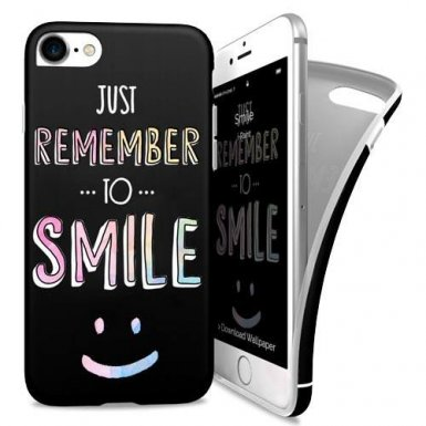 iPaint Smile Soft Case - силиконов (TPU) калъф за iPhone 8, iPhone 7