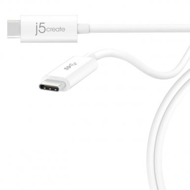 J5Create Superspeed+ USB 3.1 Data Cable USB-C към USB-C - супербърз USB 3.1 кабел (70 см.) за MacBook и компютри с USB-C порт