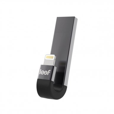 Leef iBRIDGE 3 Mobile Memory 32GB - външна памет за iPhone, iPad, iPod с Lightning (32GB) (сив)