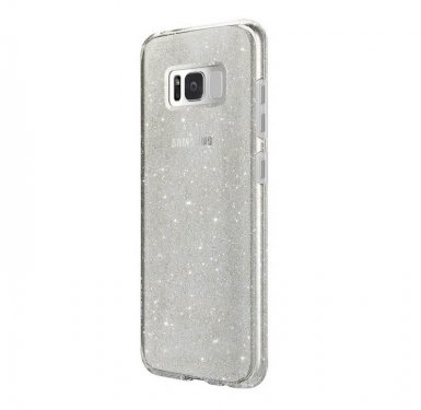 Skech Matrix Case Snow Sparkle - удароустойчив TPU калъф за Samsung Galaxy S8 Plus (сребрист-прозрачен)