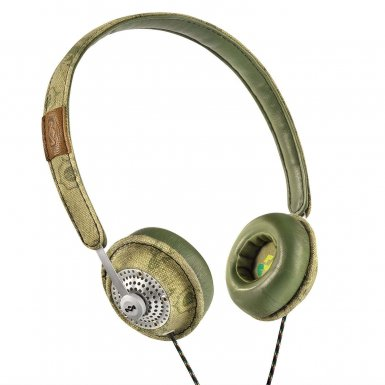 The House of Marley Haramble On-Ear Headphones - слушалки за iPhone, iPod и устройства с 3.5 мм изход (зелен)