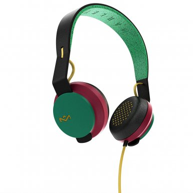 The House of Marley The Roar On-Ear Headphones - слушалки за iPhone, iPod и устройства с 3.5 мм изход (раста)
