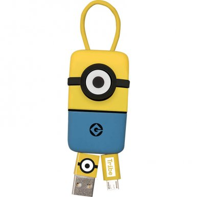 USB Tribe Minions Jail Time Minion Lightning Keyline - кабел тип ключодържател за iPhone, iPad и iPod с Lightning (22 см)