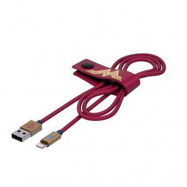 USB Tribe DC Movie Wonder Woman Lightning Cable - сертифициран Lightning кабел за iPhone, iPad и iPod с Lightning  (120 см)