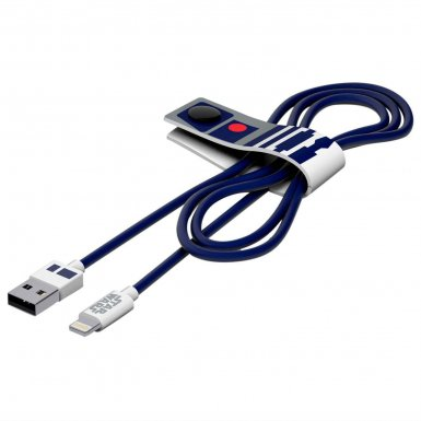 USB Tribe Star Wars R2D2 Lightning Cable - сертифициран Lightning кабел за iPhone, iPad и iPod с Lightning  (120 см)