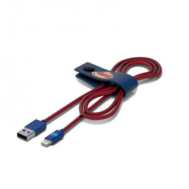 USB Tribe DC Movie Superman Lightning Cable - сертифициран Lightning кабел за iPhone, iPad и iPod с Lightning  (120 см)