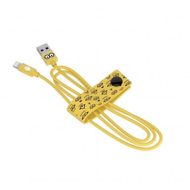 USB Tribe Minions Tom Lightning Cable - сертифициран Lightning кабел за iPhone, iPad и iPod с Lightning  (120 см)