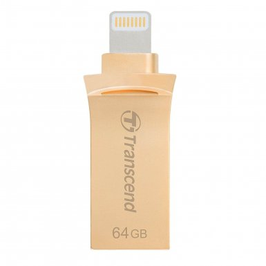Transcend JetDrive USB 3.1 Go 500G 64GB - външна памет за iPhone, iPad, iPod с Lightning (64GB) (gold)