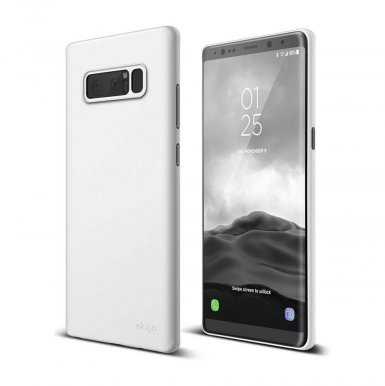 Elago Origin Case - тънък полипропиленов кейс (0.3 mm) за Samsung Galaxy Note 8 (бял)