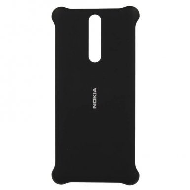 Nokia Soft Touch Case CC-801 - поликарбонатов кейс за Nokia 8 (черен)