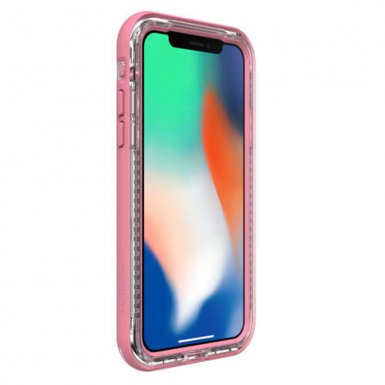 LifeProof Next - удароустойчив кейс за iPhone X, iPhone XS (розов-прозрачен)