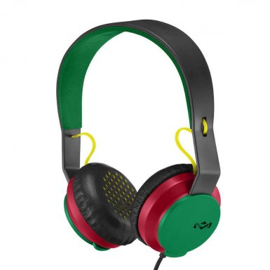 The House of Marley The Roar On-Ear Headphones - слушалки за iPhone, iPod и устройства с 3.5 мм изход (раста) (bulk)