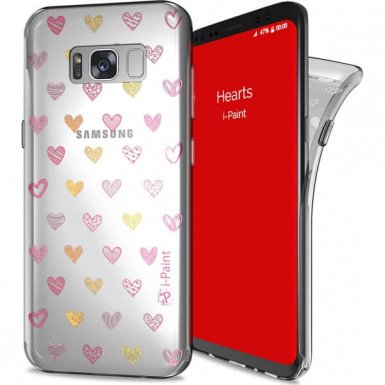 iPaint Glamour Hearts Case - дизайнерски TPU кейс за Samsung Galaxy S8