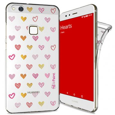 iPaint Glamour Hearts Case - дизайнерски TPU кейс за Huawei P10 Lite