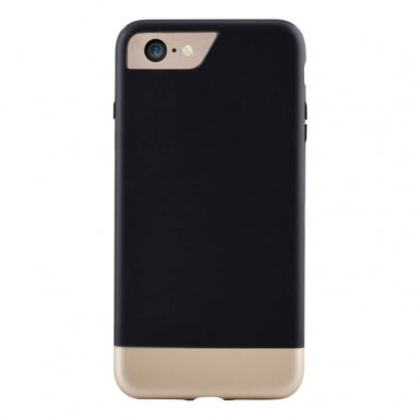 Comma Glide Case - поликарбонатов слайдер кейс за iPhone 8 Plus, iPhone 7 Plus (черен-златист)