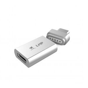 LMP USB-C Magnetic Safety Charging Adapter - USB-C към USB-C магнитен адаптер за MacBook и устройства с USB-C порт (сребрист)