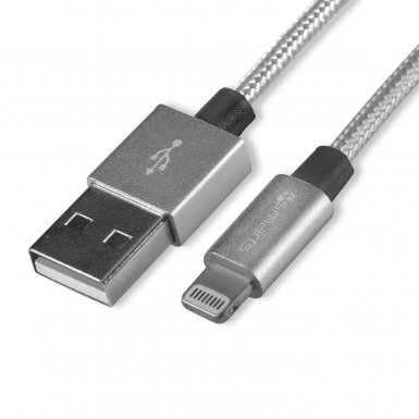 4smarts MFI RapidCord Lightning Data Cable 2m. - сертифициран lightning кабел (200 см.) за iPhone, iPad и iPod с Lightning вход (сив)