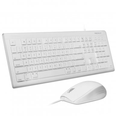 Macally Combo Keyboard & Mouse - комплект USB клавиатура и USB мишка за Mac и PC
