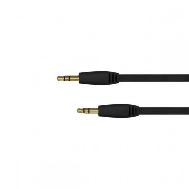 Just Wireless Aux Audio Cable - качествен 3.5 мм. аудио кабел (180 см) (черен)