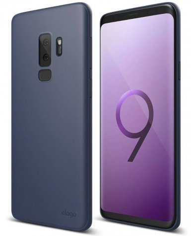 Elago Origin Case - тънък полипропиленов кейс (0.3 mm) за Samsung Galaxy S9 Plus (син)