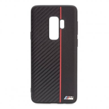 BMW M Collection Hard Case - кожен кейс за Samsung Galaxy S9 Plus (черен)