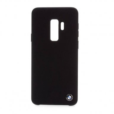 BMW Signature Silicone Hard Case - твърд силиконов кейс за Samsung Galaxy S9 Plus (черен)