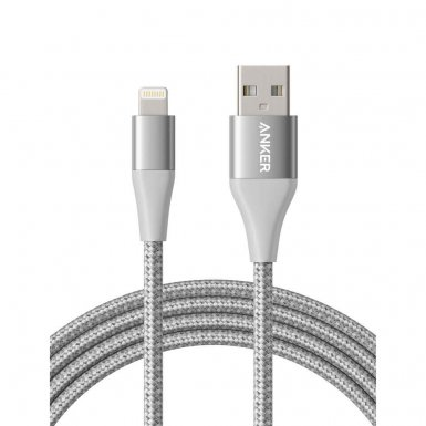 Anker Powerline+ II Lightning Lightning cable 1.8m - сертифициран Lightning кабел за iPhone, iPad и iPod с Lightning (1.8 м) (сребрист)