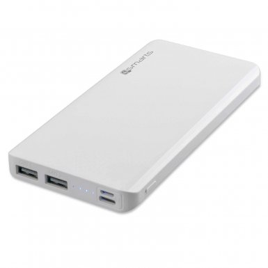 4smarts Power Bank VoltHub Lite 10000 mAh - външна батерия с два USB и USB-C изходи (Бял)