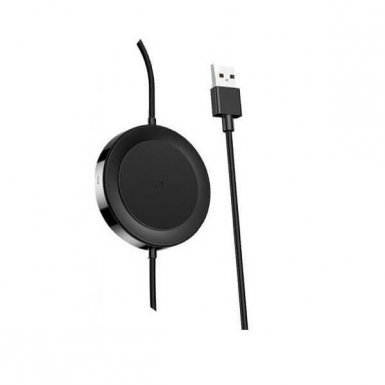 Baseus Wireless Charger Lightning USB Cable - Lightning кабел с пад за безжично зареждане за iPhone, iPad и iPod с Lightning (черен)