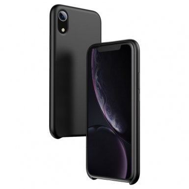 Baseus Original LSR Case - силиконов (TPU) калъф за iPhone XR (черен)