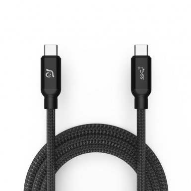 ADAM Elements CASA C100+ USB-C Cable 100W - USB-C към USB-C кабел за MacBook и устройства с USB-C порт (100 cm) (черен)