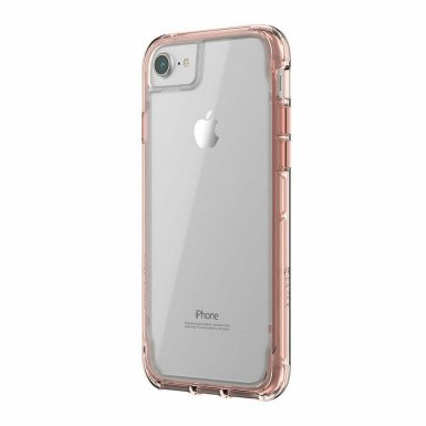 Griffin Survivor Clear Case - хибриден удароустойчив кейс за iPhone 8, iPhone 7, iPhone 6S, iPhone 6 (прозрачен)