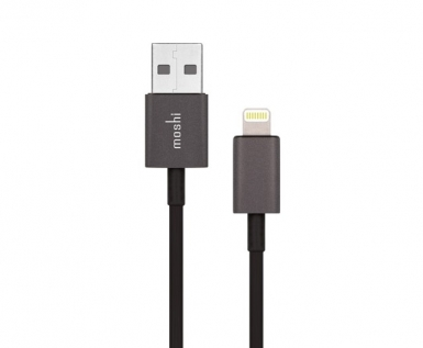 Moshi Lightning to USB Cable - USB кабел за iPhone X, iPhone 8, iPhone 7, iPad, iPod с Lightning (100 см) (черен)