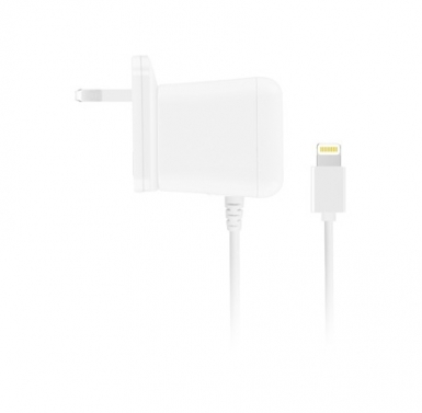 Macally 10W Wall Charger - захранване за ел. мрежа за iPhone, iPad, iPod с Lightning (с преходници за цял свят)