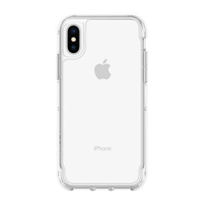 Griffin Survivor Clear Case - хибриден удароустойчив кейс за iPhone XS, iPhone X (прозрачен)