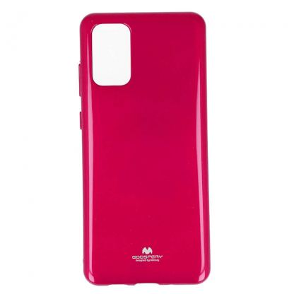 Mercury Goospery Jelly Case - силиконов (TPU) калъф за Samsung Galaxy S20 Plus (розов)